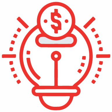 A red clipart image that would portray the idea of time and money.